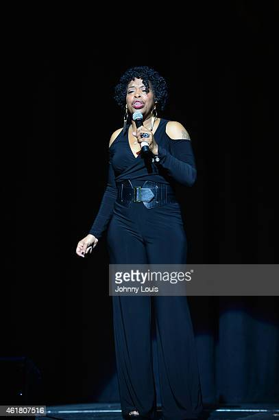 Actress/comediene Adele Givens onstage during The Festival of Laughs day1 at James L Knight Center on January 16 2015 in Miami Florida