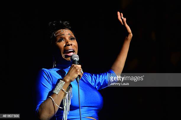 Actress/Comediene Sommore onstage during The Festival of Laughs day 2 at James L Knight Center on January 17 2015 in Miami Florida