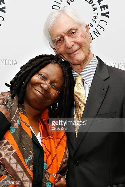 Actress/comedienne Whoopi Goldberg and television host Sonny Fox attend Sonny Fox Forty Years In Television A Conversation With Whoopi Goldberg at...