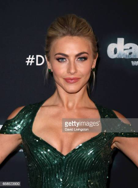 Actress/competition judge Julianne Hough attends 'Dancing with the Stars' Season 24 at CBS Televison City on March 27 2017 in Los Angeles California