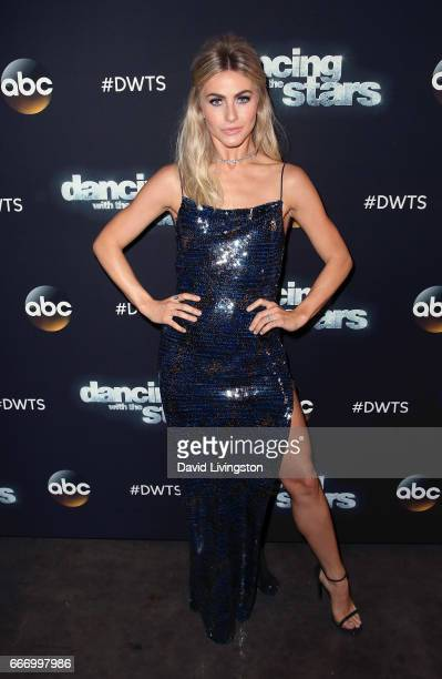 Actress/competition judge Julianne Hough attends Dancing with the Stars Season 24 at CBS Televison City on April 10 2017 in Los Angeles California