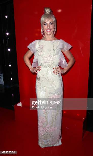 Actress/competition judge Julianne Hough attends Dancing with the Stars Season 24 at CBS Televison City on April 17 2017 in Los Angeles California