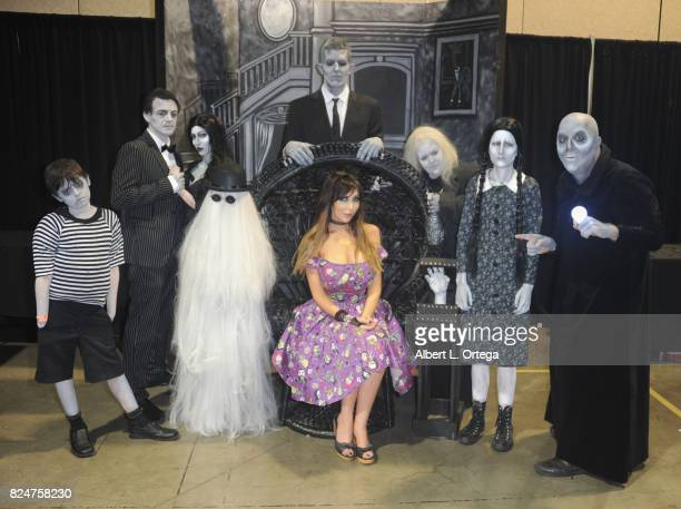 Actress/cosplayer Kasey Poteet attends Day Two of Midsummer Scream Halloween Festival held at Long Beach Convention Center on July 30 2017 in Long...