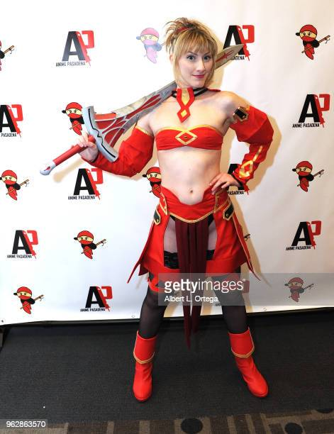 Actress/cosplayer Tara Nicole Azarian attends the Anime Pasadena 2018 Cosplay And Nerd Convention held at Pasadena Convention Center on May 26 2018...
