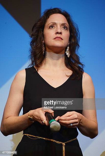 Actress/cowriter Kali Rocha takes part in a QA following the Space Station 76 premiere during the 2014 SXSW Music Film Interactive Festival at the...