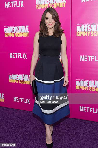 Actress/Creator Tina Fey attends the 'Unbreakable Kimmy Schmidt' Season 2 World Premiere at SVA Theatre on March 30 2016 in New York City