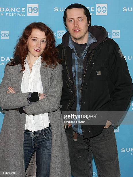 Actress/Creator/Producer Melissa Auf der Maur and Director Tony Stone attend the premiere of O'er The Land during the 2009 Sundance Film Festival at...