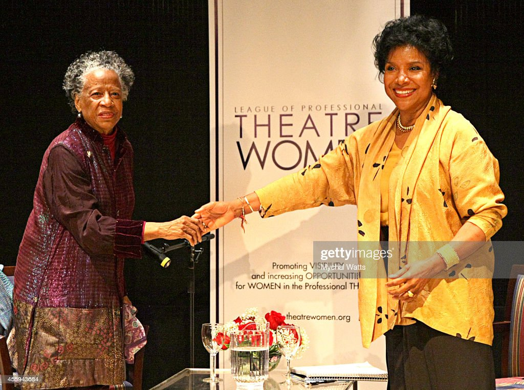 Actress/Dancer Billie Allen and Actress Phylicia Rashad at The League Of Profesional Theatre Women Presents: Billie Allen And Phylicia Rashad at The New York Public Library for Performing Arts on September 22, 2014 in New York City.