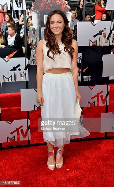 Actress/dancer Briana Evigan attends the 2014 MTV Movie Awards at Nokia Theatre LA Live on April 13 2014 in Los Angeles California
