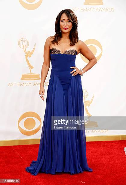 Actress/dancer Carrie Ann Inaba arrives at the 65th Annual Primetime Emmy Awards held at Nokia Theatre LA Live on September 22 2013 in Los Angeles...