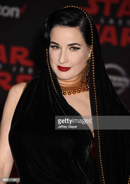 Actress/dancer Dita Von Teese attends the premiere of Disney Pictures and Lucasfilm's 'Star Wars The Last Jedi' at The Shrine Auditorium on December...