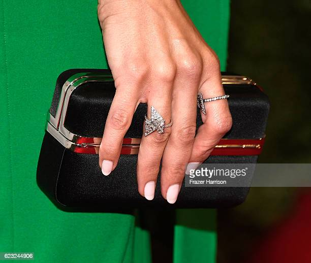 Actress/Dancer Jenna Dewan Tatum clutch detail attends Glamour Women Of The Year 2016 at NeueHouse Hollywood on November 14 2016 in Los Angeles...