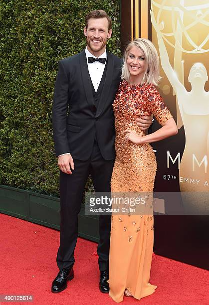 Actress/dancer Julianne Hough and hockey player Brooks Laich attend the 2015 Creative Arts Emmy Awards at Microsoft Theater on September 12 2015 in...