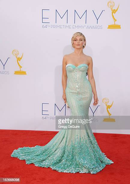 Actress/dancer Julianne Hough arrives at the 64th Primetime Emmy Awards at Nokia Theatre L.A. Live on September 23, 2012 in Los Angeles, California.