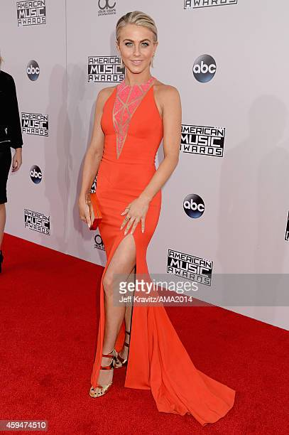 Actress/dancer Julianne Hough attends the 2014 American Music Awards at Nokia Theatre LA Live on November 23 2014 in Los Angeles California