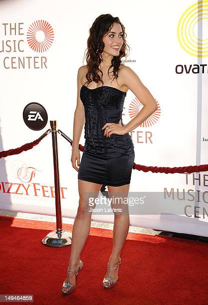 Actress/dancer Kathryn McCormick attends Dizzy Feet Foundation's celebration of dance at Dorothy Chandler Pavilion on July 28 2012 in Los Angeles...