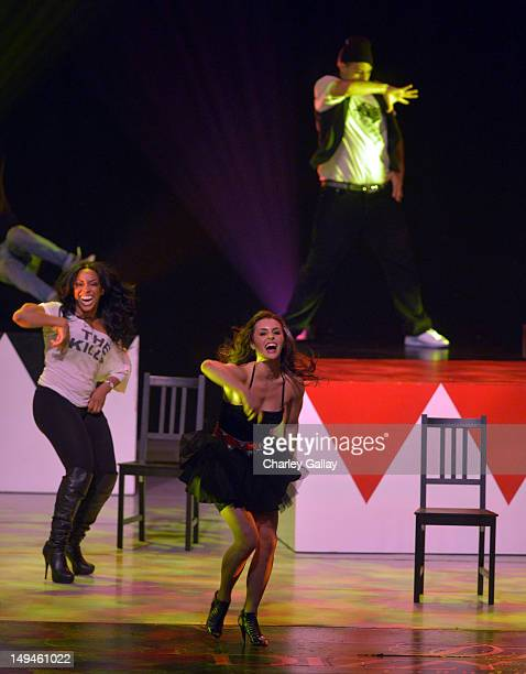 Actress/dancer Kathryn McCormick performs during the 2nd Annual Dizzy Feet Foundation's Celebration of Dance Gala at Dorothy Chandler Pavilion on...