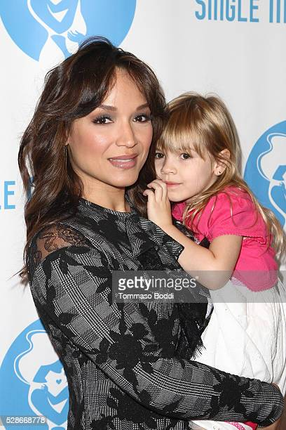 Actress/Dancer Mayte Garcia and Gia Garcia attend the Single Mom's Awards held at The Peninsula Beverly Hills on May 6 2016 in Beverly Hills...