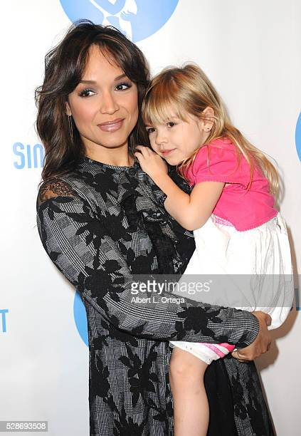 Actress/Dancer Mayte Garcia with daughter Gia arrive for the Single Mom's Awards presented by Single Moms Planet held at The Peninsula Beverly Hills...
