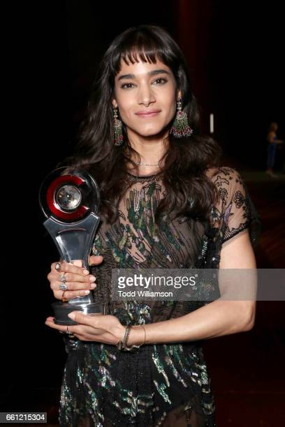 Actress/dancer Sofia Boutella, recipient of the Female Star of Tomorrow Award, at the CinemaCon Big Screen Achievement Awards brought to you by the...