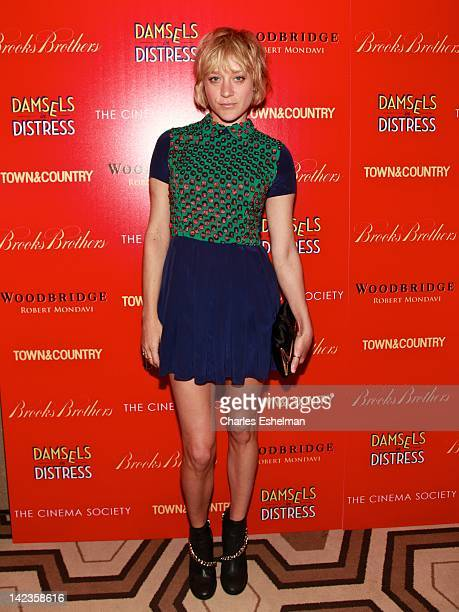 Actress/designer Chloe Sevigny attends The Cinema Society with Town Country and Brooks Brothers screening of 'Damsels in Distress' at the Tribeca...