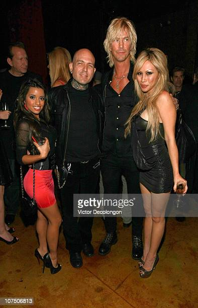 Actress/designer Lupe Fuentes musician Evan Seinfeld musician Duff McKagan and Etty Farrell attend Etty Farrell's Birthday Celebration at 1616 Club...
