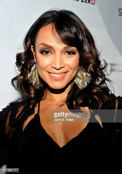 Actress/designer Mayte Garcia attends the launch of Shanna Moakler and Mayte Garcia's new clothing line Fauxy Fauxture wearing Gucci Heels at Bootsy...