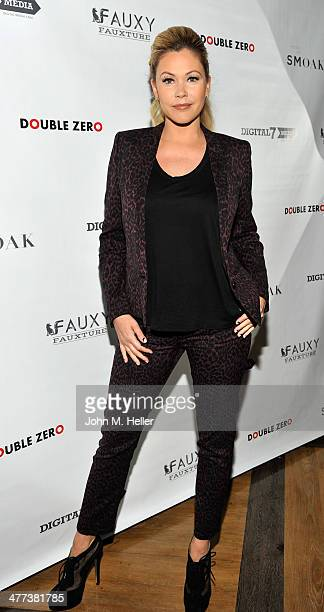 Actress/designer Shana Moakler attends the launch of Shanna Moakler and Mayte Garcia's new clothing line Fauxy Fauxture at Bootsy Bellows on March 8...