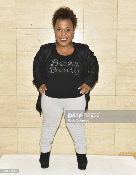 Actress/designer Tonya Renee Banks poses for portrait at her her debut of Lil Boss Body clothing line at Fathom on March 13 2017 in Los Angeles...