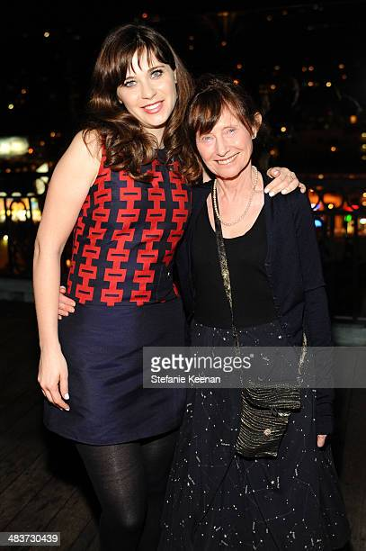 Actress/designer Zooey Deschanel and mother Mary Jo Deschanel attend the Zooey Deschanel for Tommy Hilfiger Collection launch event at The London...