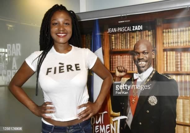 Actress/director Aicha Ouattara attends a screening of Tout Simplement Noir at Cinema MK2 Bibliotheque on July 08 2020 in Paris France