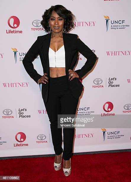 Actress/director Angela Bassett attends the world premiere of Lifetime's 'Whitney' at The Paley Center for Media on January 6 2015 in Beverly Hills...