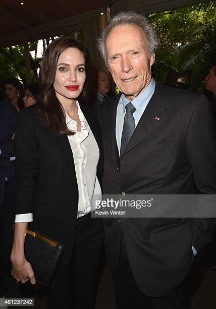 Actress/director Angelina Jolie and actor/director Clint Eastwood attend the 15th Annual AFI Awards at Four Seasons Hotel Los Angeles at Beverly...