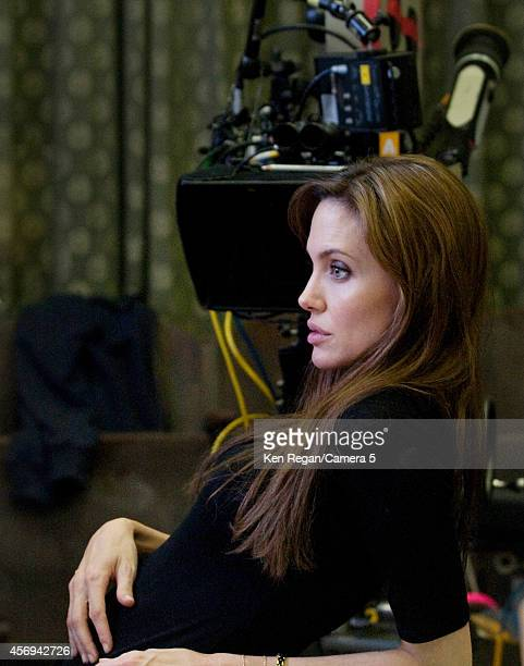 Actress/director Angelina Jolie is photographed on set of 'The Land of Blood in Honey' on October 5 2010 in Budapest Hungary CREDIT MUST READ Ken...