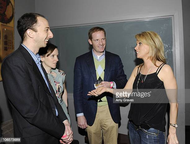 Actress/director Cheryl Hines talks with filmmakers at the Los Angeles Women's International Film Festival Opening Night Gala at Libertine on March...