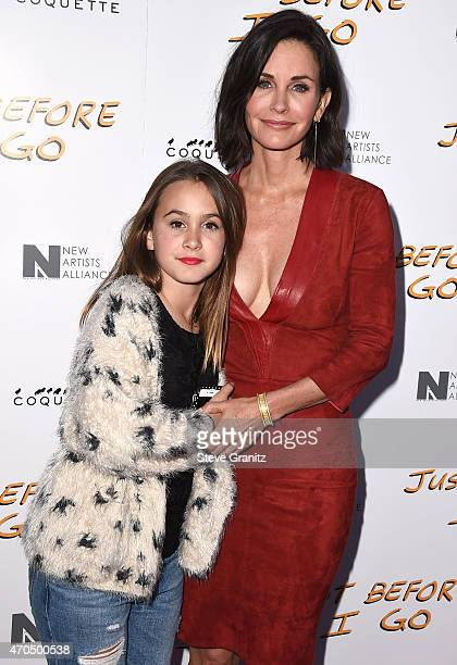 Actress/director Courteney Cox and Coco Riley Arquette arrives at the 'Just Before I Go' Los Angeles Special Screening at ArcLight Hollywood on April...
