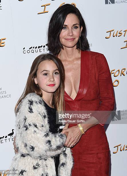 Actress/director Courteney Cox and daughter Coco Riley Arquette arrive at the Los Angeles Special Screening of 'Just Before I Go' at ArcLight...