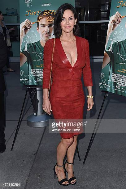 Actress/director Courteney Cox arrives at the Los Angeles Special Screening of 'Just Before I Go' at ArcLight Hollywood on April 20 2015 in Hollywood...