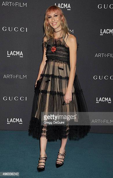 Actress/director Gia Coppola arrives at the LACMA 2015 ArtFilm Gala Honoring James Turrell And Alejandro G Inarritu Presented By Gucci at LACMA on...
