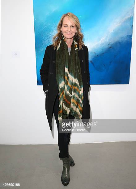 Actress/director Helen Hunt arrives at Steven Janssen's Brain Change exhibition at De Re Gallery on November 17 2015 in West Hollywood California