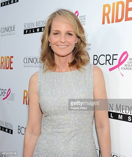 Actress/director Helen Hunt arrives at the premiere of Ride at ArcLight Hollywood on April 28 2015 in Hollywood California