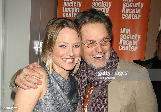 Actress/director Jodie Foster and Director Jonathan Demme attend a screening of 'The Beaver' at the Walter Reade Theater on May 4 2011 in New York...