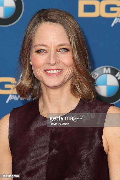 Actress/director Jodie Foster attends the 67th Annual Directors Guild Of America Awards at the Hyatt Regency Century Plaza on February 7 2015 in...