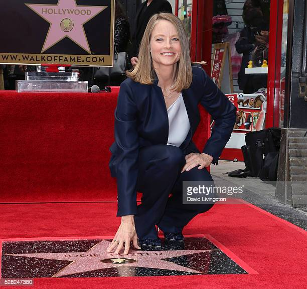 Actress/director Jodie Foster is honored with a Star on The Hollywood Walk of Fame on May 4 2016 in Hollywood California