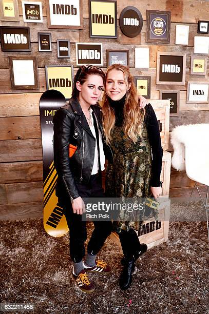 Actress/director Kristen Stewart of Come Swim and actress Teresa Palmer of Berlin Syndrome attend The IMDb Studio featuring the Filmmaker Discovery...