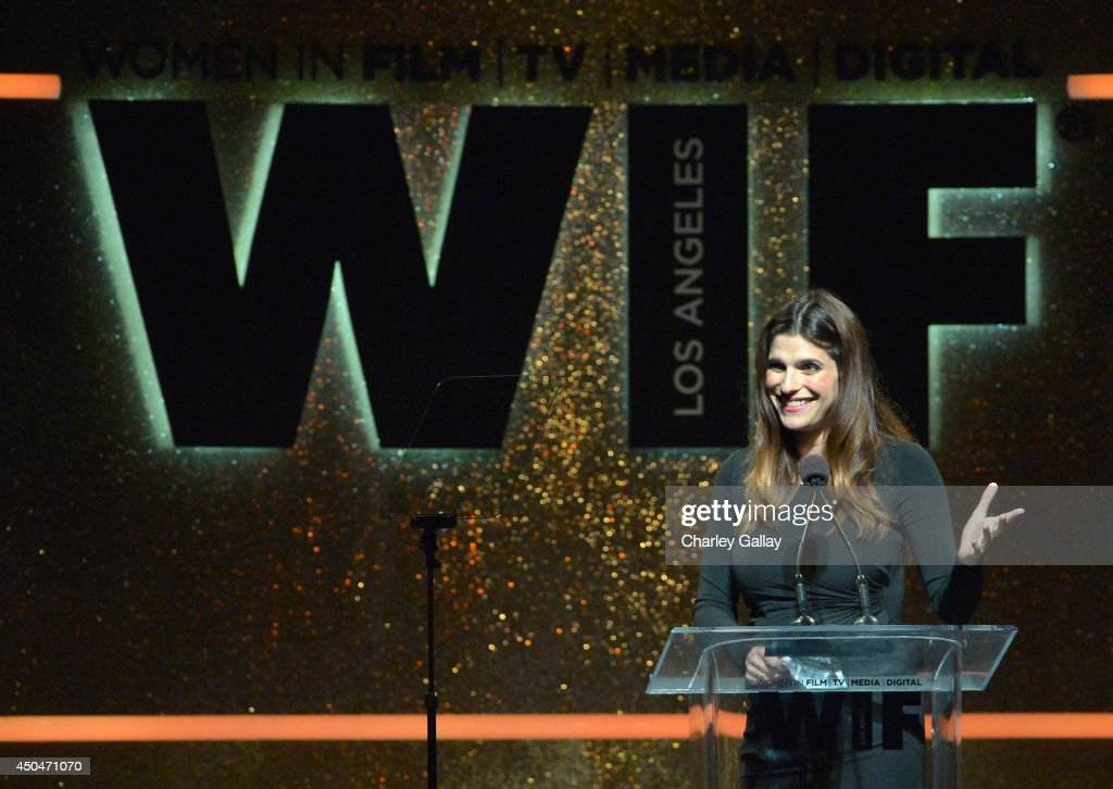Actress/director Lake Bell speaks onstage at Women In Film 2014 Crystal + Lucy Awards presented by MaxMara, BMW, Perrier-Jouet and South Coast Plaza held at the Hyatt Regency Century Plaza on June 11, 2014 in Los Angeles, California.