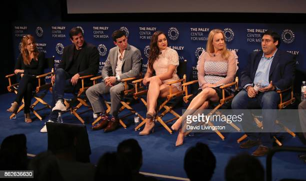 Actress/director Lea Thompson executive producer Doug Robinson actors Sam Lerner Hayley Orrantia and Wendi McLendonCovey and executive producer Adam...