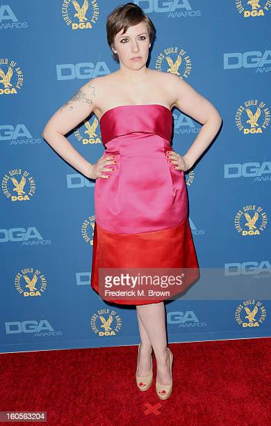 Actress/director Lena Dunham attends the 65th Annual Directors Guild Of America Awards at Ray Dolby Ballroom at Hollywood Highland on February 2 2013...