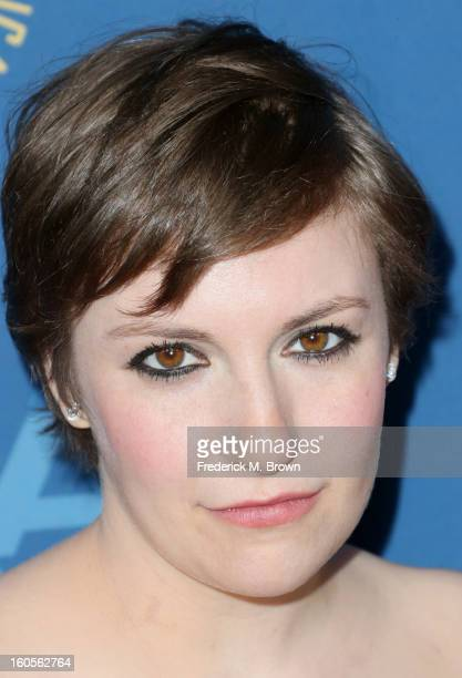 Actress/director Lena Dunhamattends the 65th Annual Directors Guild Of America Awards at Ray Dolby Ballroom at Hollywood Highland on February 2 2013...