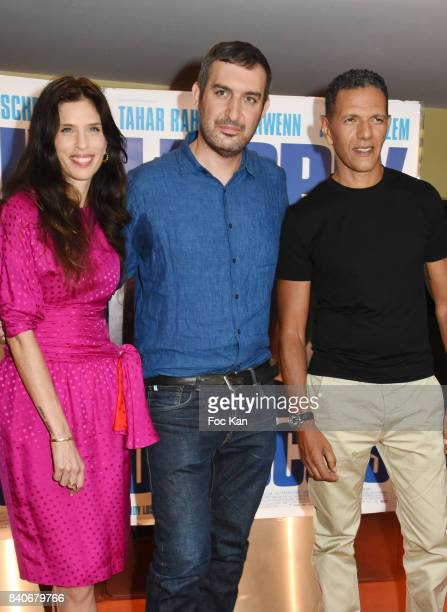Actress/director Maiwenn Le Besco director Teddy Lussi Modeste and actor Roschdy Zem attend 'Le Prix Du Succes' Paris Premiere at Cine UGC Cite Les...